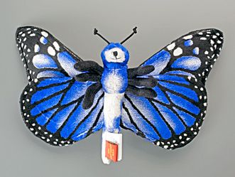 Blue Morpho Butterfly Plush Toy from Adventure Planet