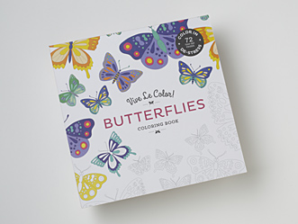 Vive Le Color! Butterflies Coloring Book