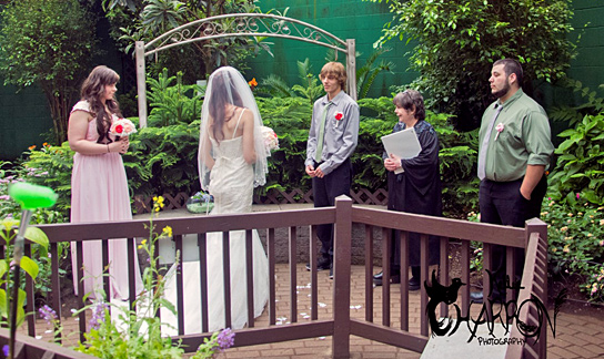A recent Wedding Ceremony at The Butterfly Place